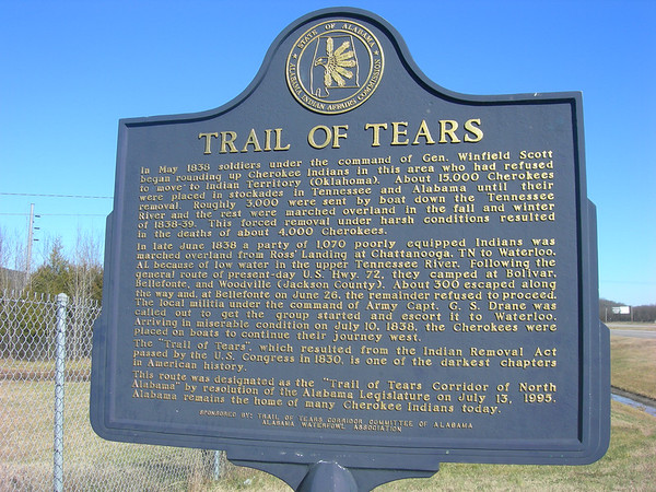 Trail of Tears - Marker